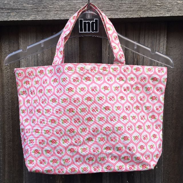 Pink Floral Lunch/Shopping Bag