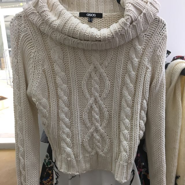Roll Neck Knit Sweater Asos