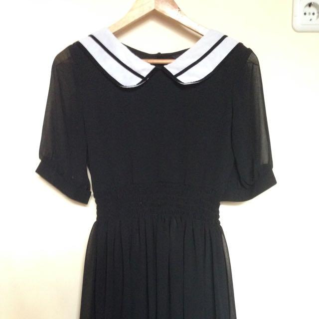 Sailor Black Dress