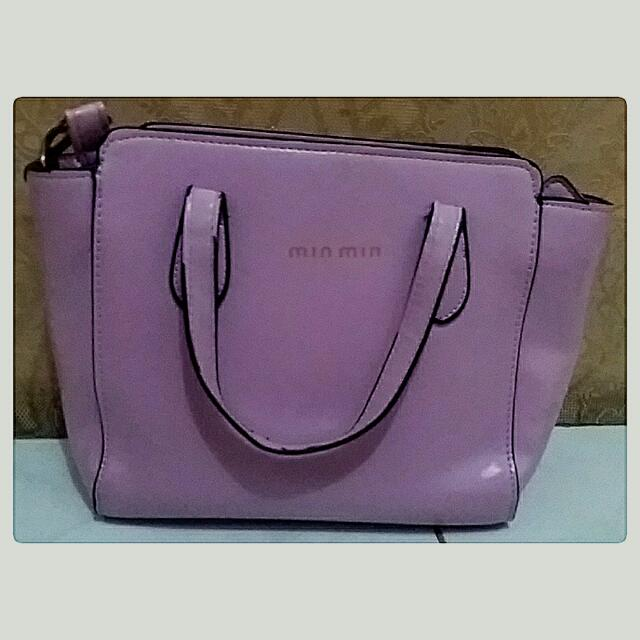 SALE Tas Min Min Warna Ungu Soft