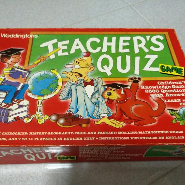 teacher quiz board game waddington toys games board games