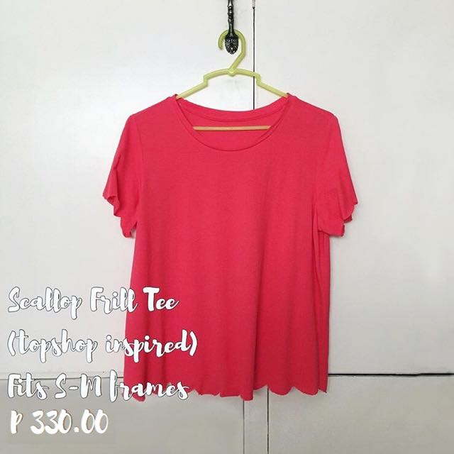 Topshop Inspired Scallop Frill Tee