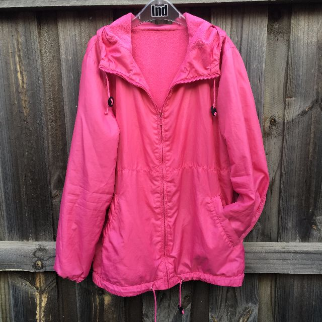Uniqlo Pink Wind Jacket with Hoodie