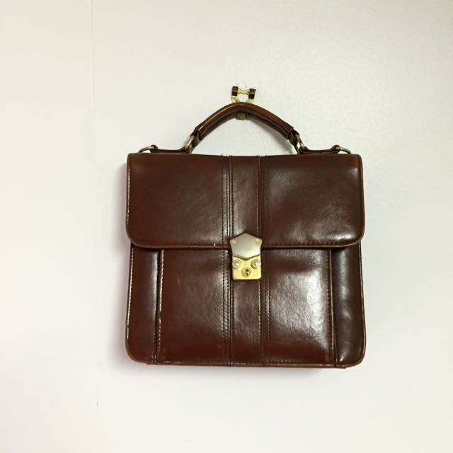 Vintage Brown Pleather Bag