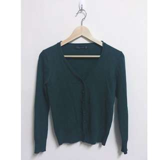 (降)墨綠 超舒服針織外套
