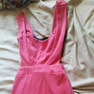 Pink Club Dress Open Back
