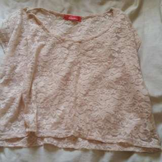 Small/medium Lace Top