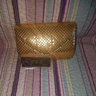 Y And S.  Original. Gold Clutch