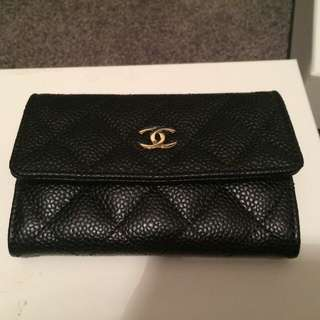 Chanel Card Wallet In Gold Hardware