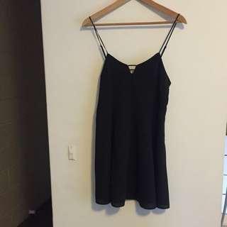 Don't Ask Amanda Black Mini Dress Size: M (runs small)