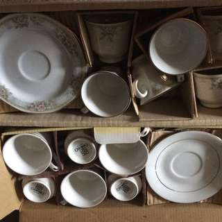2 Sets Of 12 Pcs Cup & Saucer Set