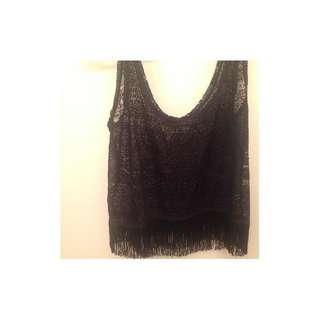 Lace Top with fringe