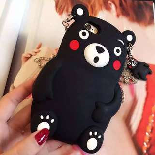Kumamon 3D Cartoon For Apple IPhone6 6Plus 6s 6s+ Cell Phone Cases Silicon cute bear Durable Mobile Phones Case ..