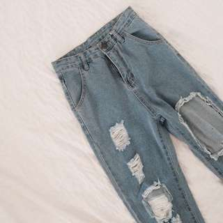 SHEINSIDE Ripped Highwaisted Jeans