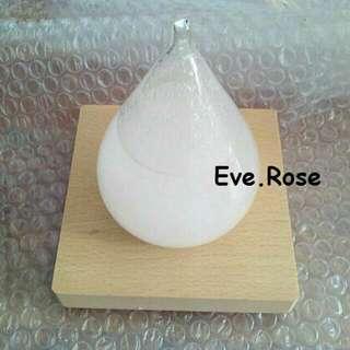 Eve. Rose 現貨 天氣瓶 小款 附木質底座