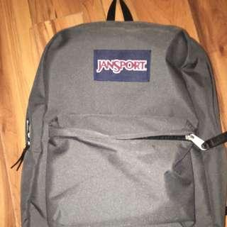 space grey jansport backpack