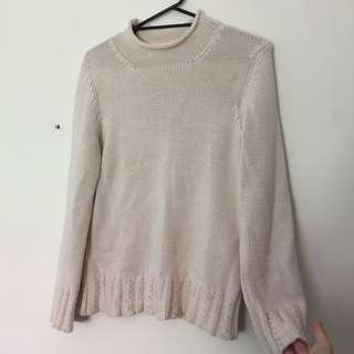 Cream Jumper With Slight Bell Sleeve