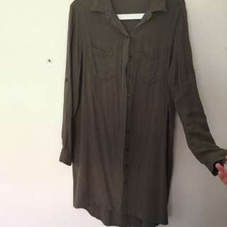 Size 12 Khaki Shirt Dress