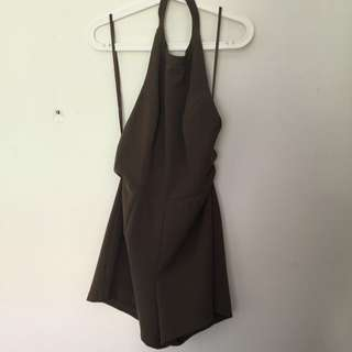 MIKA & GALA 10-12 Halter Play Suit With Open Back