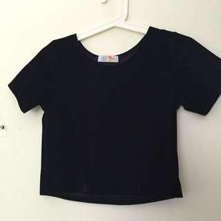 Velvet Croppet Tshirt