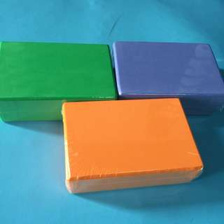 BNIP High Density Yoga Brick / Block (green / Orange / Purple )