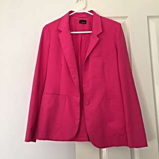 Bardot hot pink blazer top