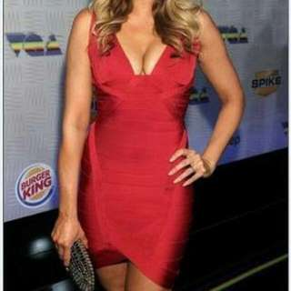 Red Bandage Dress Xs
