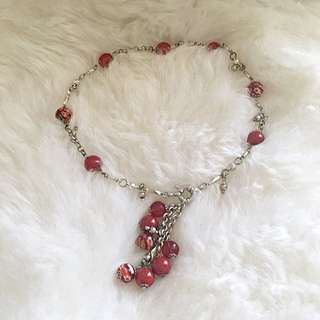 Real Silver And Murano Glass Necklace
