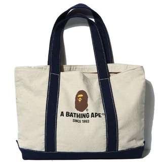 APE潮牌手提帆布包💕