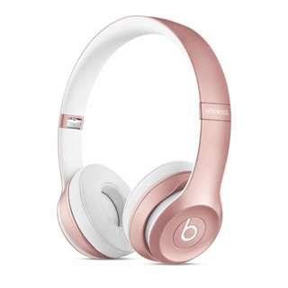 Beats Solo 2 無線耳罩式耳機 - 玫瑰金色 #禮物