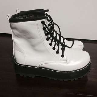 White High Top Boots