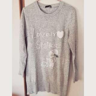 H&M針織毛衣,長版上衣,洋裝