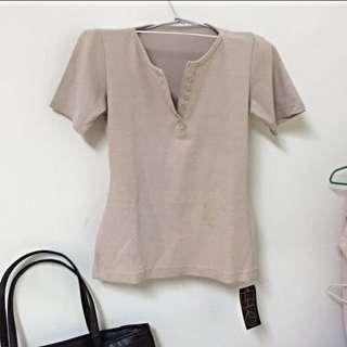 排釦V領上衣〽️全新特價❌290