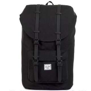 [OUT OF STOCK] Herschel Little America Mid Volume, Black