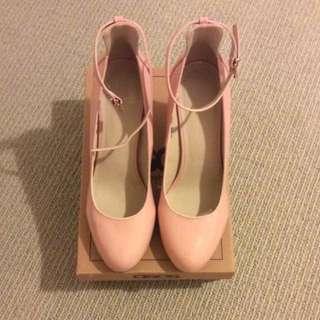 ASOS pink stamp heel