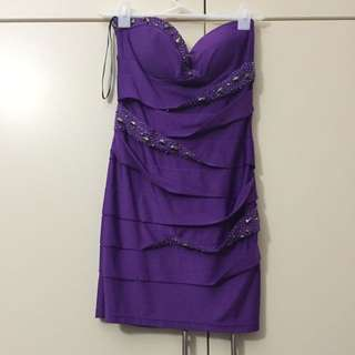 Purple fever Strapless dress