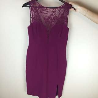 Emilio Pucci Maroon Lace Fitted Dress
