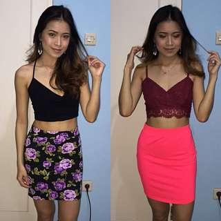 Forever 21 & H&m Bodycon Skirt