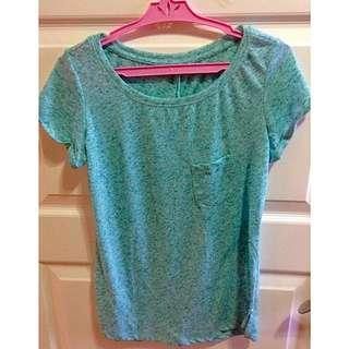 Green Bershka Shirt