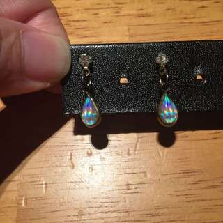 Faux Diamond Holographic Earrings