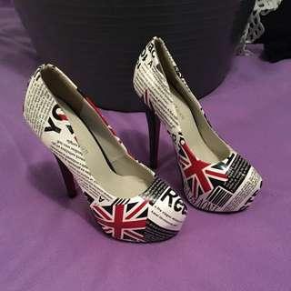 U.K. Flag High Heels