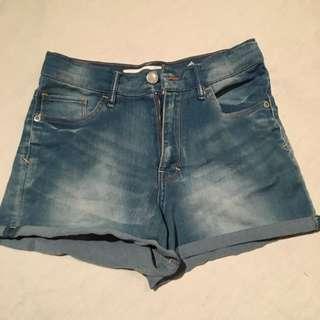 Blue High Waisted Short