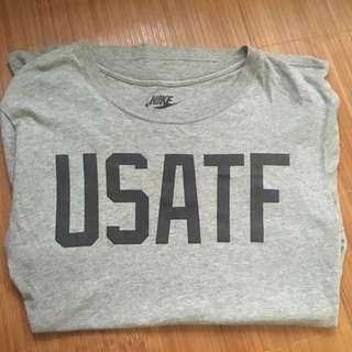 (二手)Nike USATF灰T