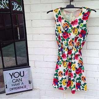 Flowery Dress Size S-M