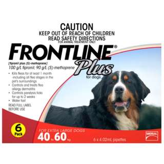 Frontline Plus Flea And Tick Spot On For Extra Large Dogs (40-60Kg)