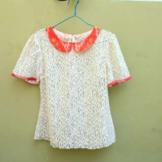 Batik Lacey Top