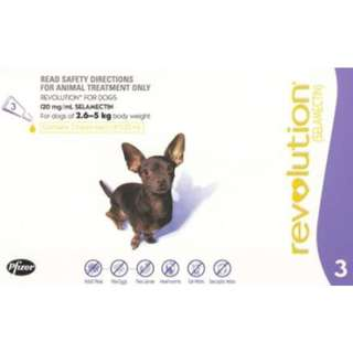 Revolution For Extra Small Dogs (2.5 – 5Kg)
