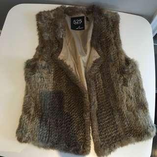 100% Natural Rabbit Fur Vest
