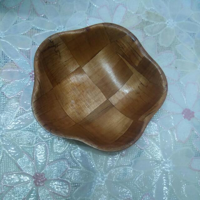 花型竹碗盤