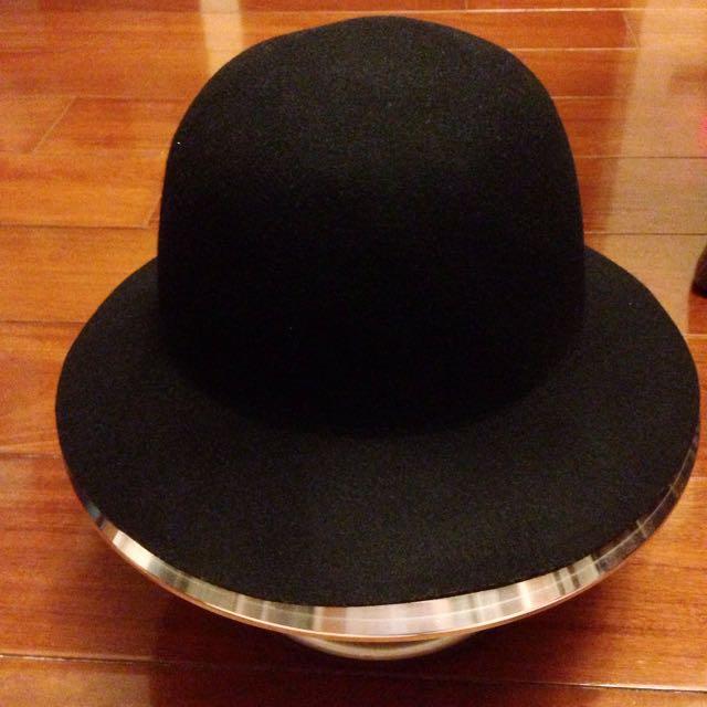 純羊毛 圓頂帽
